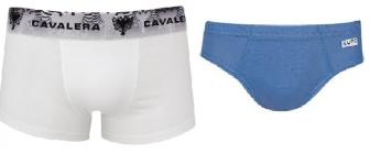 Dois esquemas de modelagem de cueca, a básica e a boxer, do P ao EGG.