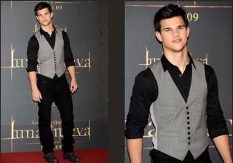 Un gilet qui peut être utilisé dans la composition d'un costume ou pour compléter un look sportif comme celui utilisé par l'acteur Taylor Lautner. Le 36-56 suivant schéma de modélisation.
