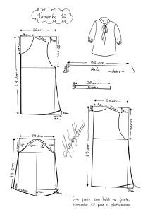 Molde da Blusa Laço tamanho 42.