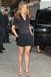 Short é uma peça ideal para o verão. Este modelo que a Jennifer Aniston está usando é bem clássico. Fiz molde prevendo uma prega de 3 cm de profundidade porque pregas muito fundas não ficam bem para gordinhas, pois salienta a barriga, mas se quiser mais de uma prega, é só acrescentar mais 3 cm na linha da cintura. Segue moldes do 36 ao 56.