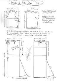 Esquema de modelagem de vestido de festa Tulipa tamanho 54.