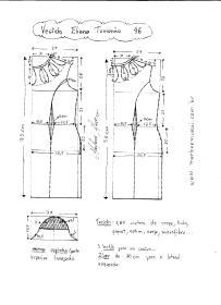 Esquema de Modelagem de Vestido Eliana tamanho 46.