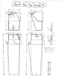 Esquema de modelagem do Macacão Maria Clara tamanho 44.