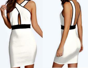 Um vestido simples cuja graça está no decote cruzado. Segue esquema de modelagem do 36 ao 56 para tecido com strech ou malha encorpada.