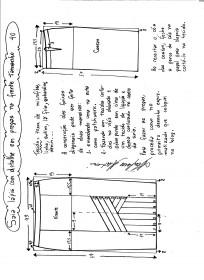 Esquema de modelagem da saia lápis com pregas na frente 40.