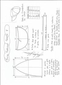 Esquema de modelagem de boina tradicional tamanho P.