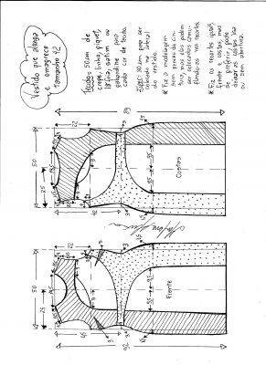 Esquema de modelagem de vestido que alonga e afina a silhueta tamanho 42.