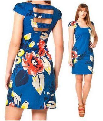 Modelagem de vestido tubinho com decote nas costas e manga copinho do 36 ao 56.