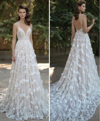 Vestido de festa ou noiva que pode ser feito com ou sem cauda. Esquema de modelagem do 36 ao 56.